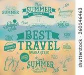 set of vector summer sales... | Shutterstock .eps vector #260146463
