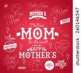 set of mother's day vector... | Shutterstock .eps vector #260146547