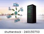 cloud computing doodle against... | Shutterstock . vector #260150753