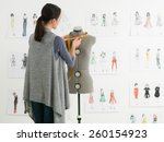 young caucasian female fashion... | Shutterstock . vector #260154923