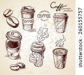 hand drawn doodle sketch... | Shutterstock .eps vector #260155757