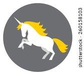 Illustration Of White Unicorn...