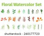 Floral Watercolor Vector Set....