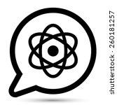vector atom symbol. file format ...   Shutterstock .eps vector #260181257