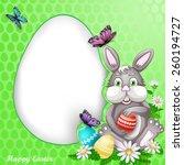 easter bunny | Shutterstock .eps vector #260194727