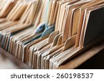 catalog cards in library ... | Shutterstock . vector #260198537