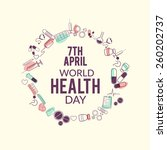 world health day background. | Shutterstock .eps vector #260202737