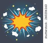 blank comic bubble speech | Shutterstock .eps vector #260206163