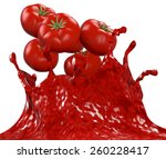 splash of tomato sauce with red ... | Shutterstock . vector #260228417