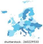 vector illustration of blue... | Shutterstock .eps vector #260229533