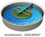 waste water treatment plant ... | Shutterstock . vector #260230967
