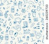 spring garden seamless pattern | Shutterstock .eps vector #260239733