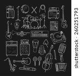 set of music instruments. hand...   Shutterstock .eps vector #260251793