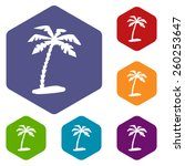 island rhombus icons set in... | Shutterstock .eps vector #260253647