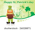 clover background leprechaun... | Shutterstock .eps vector #26028871