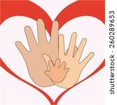 family love design  vector...   Shutterstock .eps vector #260289653