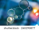 oil floating on water with ... | Shutterstock . vector #260290877