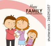 family love design  vector...   Shutterstock .eps vector #260291357