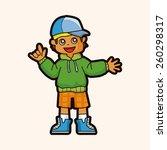cartoon hip hop dancer    Shutterstock . vector #260298317