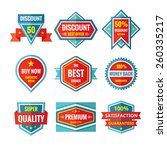 sale and discount vector badges ... | Shutterstock .eps vector #260335217