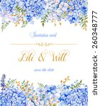 Invitation Card. Vector Blue...