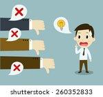 unsuccessful businessman ....   Shutterstock .eps vector #260352833