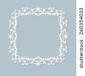 carved vintage frame made of... | Shutterstock .eps vector #260354033