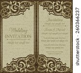 antique baroque wedding... | Shutterstock .eps vector #260366237