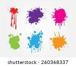 colorful paint splat set.paint...