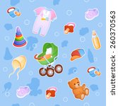 background of things and toys... | Shutterstock .eps vector #260370563