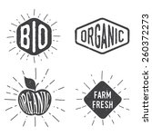 organic retro badges | Shutterstock .eps vector #260372273