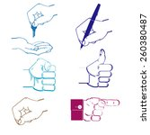 monochrome icon set with hand | Shutterstock .eps vector #260380487