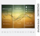 tri fold brochure mock up... | Shutterstock .eps vector #260382563