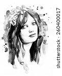 woman face | Shutterstock . vector #260400017