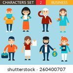 business male and female... | Shutterstock .eps vector #260400707