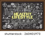 hand drawn about healthy... | Shutterstock .eps vector #260401973
