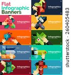 set of infographic flat design... | Shutterstock .eps vector #260405483