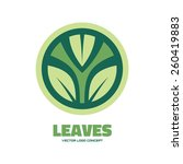 Leaves   Vector Logo Concept...