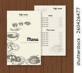 restaurant or cafe menu vector... | Shutterstock .eps vector #260426477
