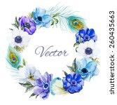 Watercolor  Wreath Frame ...