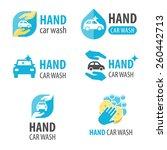 vector set of hand car wash... | Shutterstock .eps vector #260442713