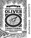 retro olives poster black and... | Shutterstock .eps vector #260452073