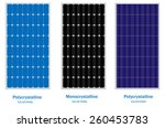 solar panel  green energy and... | Shutterstock .eps vector #260453783