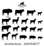 Vector Livestock Silhouettes...