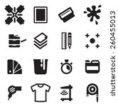 screen printing icons  | Shutterstock .eps vector #260455013