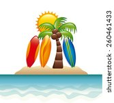 summer icon design  vector... | Shutterstock .eps vector #260461433