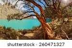 qerococha lake in white range... | Shutterstock . vector #260471327
