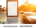 blank billboard outdoors ... | Shutterstock . vector #260483063