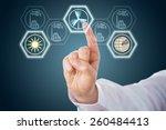 index finger is selecting... | Shutterstock . vector #260484413
