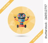 robot concept flat icon with... | Shutterstock .eps vector #260512757